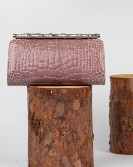 Picture of CLUTCH BAG IN BAMBOO DESIGN