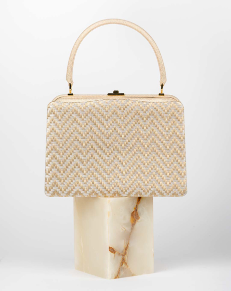 Picture of SHORT HANDLED BAG IN GOLD