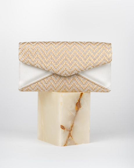 Picture of GOLD SATIN MADE CLUTCH BAG