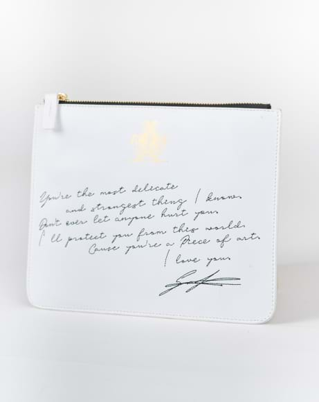 Picture of LOVE LETTER POUCH WHITE