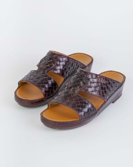 Picture of ZN4720 ARABIC SANDAL - OLD BORDEAUX