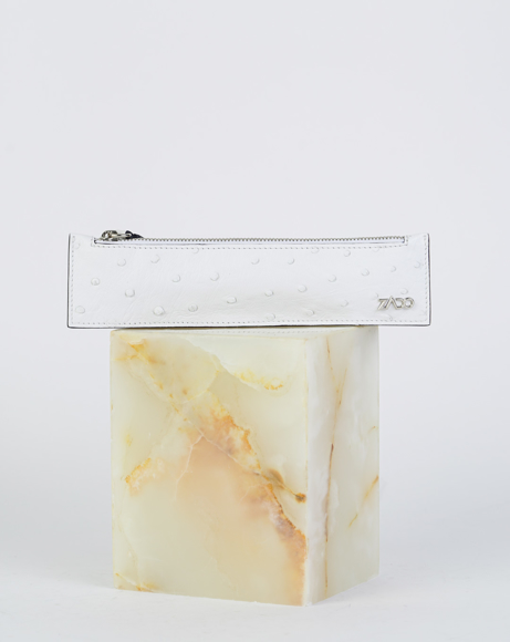 Picture of LEATHER PEN SLEEVE WHITE