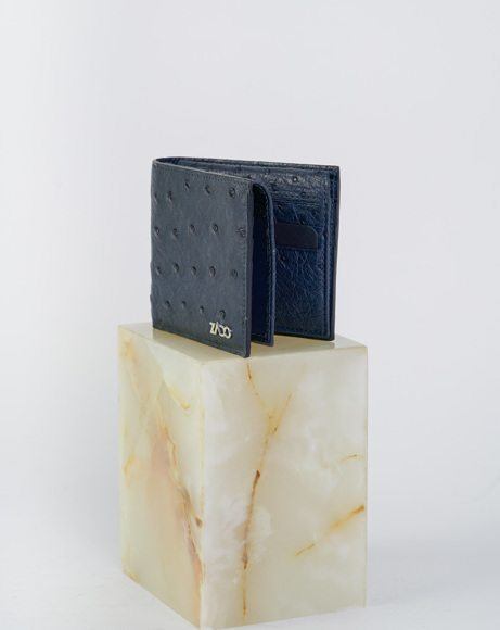 Picture of OSTRICH LEATHER WALLETS BLUE