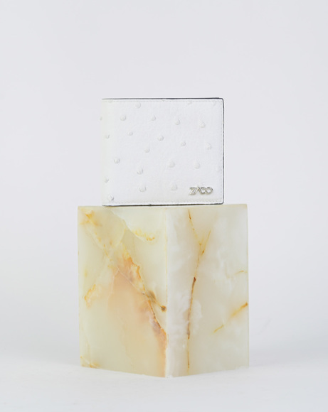 Picture of OSTRICH LEATHER WALLETS WHITE