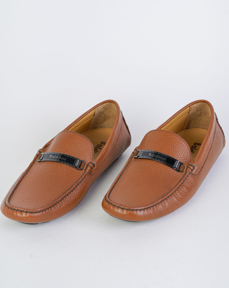 Picture of CALFSKIN LEATHER LOAFERS CAMEL