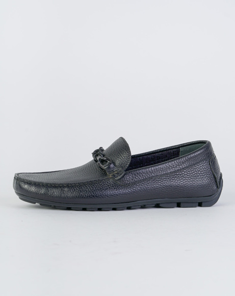 Picture of CALFSKIN LEATHER LOAFERS BLACK