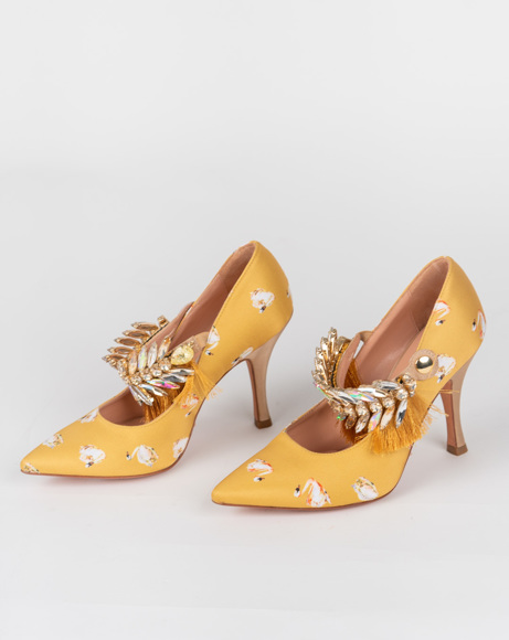 Picture of POINTED TOE MOSTAZA PUMPS
