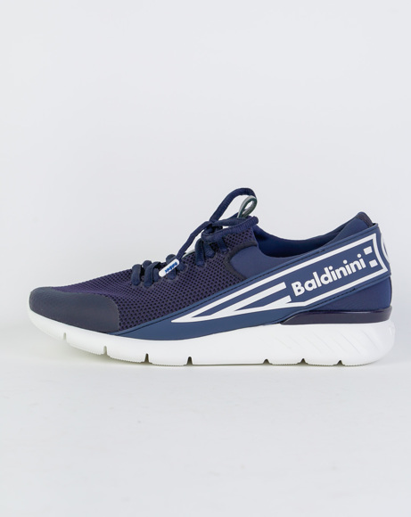 Picture of REAL LEATHER SNEAKERS BLUE