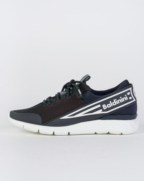 Picture of REAL LEATHER SNEAKERS BLACK