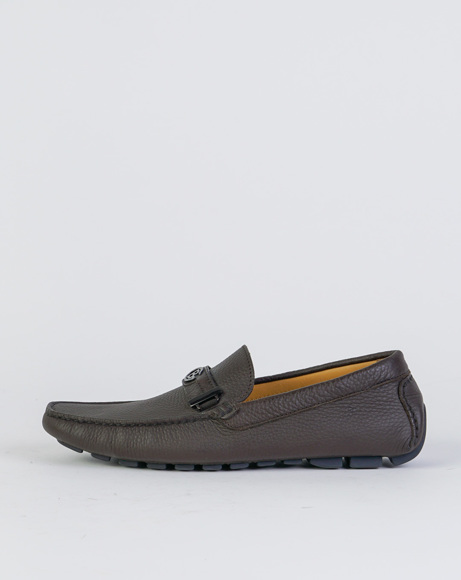 Picture of NAPPA LEATHER LOAFERS DARK DROWN