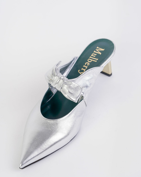Picture of SILVER BOW POINTED TOE MULES