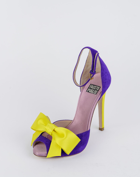 Picture of ULTRAVIOLET BOW SANDALS