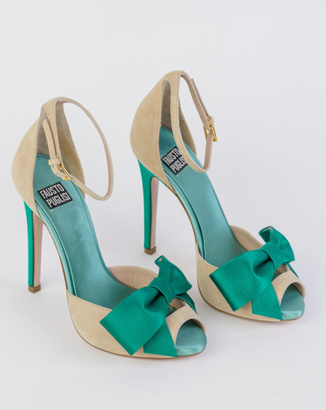 Picture of BEIGE BOW SANDALS