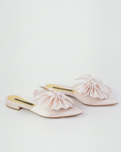 Picture of KATE MULE FLAT IN PEONIA SATIN