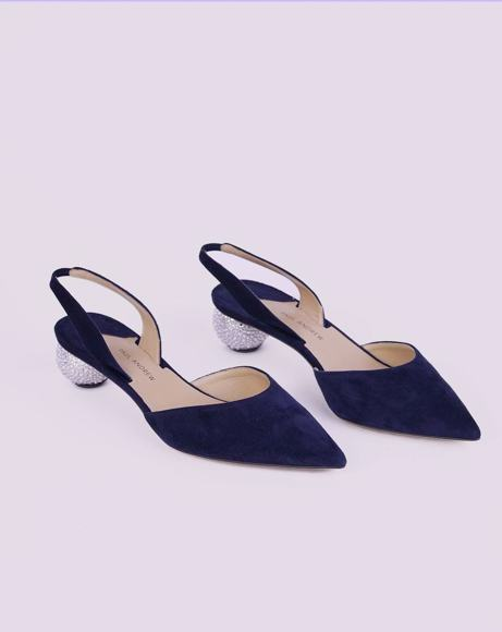 Picture of RHEA ANKARA SLINGBACK PUMPS IN NAVY