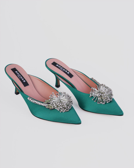 Picture of CRYSTAL EMBELLISHED MULES