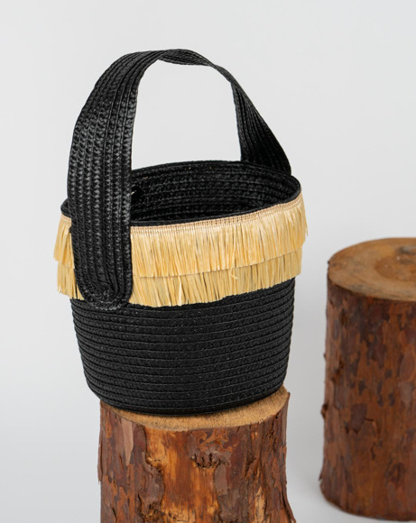 Picture of WOVEN HANDBAG W/ FRINGES