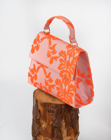 Picture of GIRLS ORANGE EMBROIDERED TOTE BAG