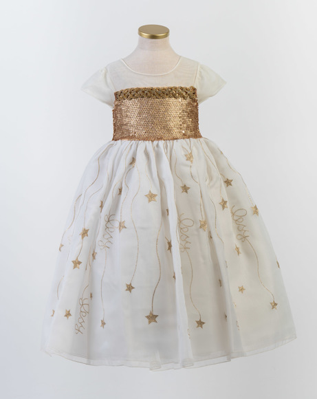 Picture of LUXURY WHITE GOLD PARTY DRESS