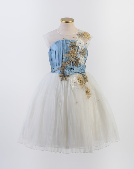 Picture of GIRLS IVORYLIGHT/BLUE SPECIAL OCCASION DRESS