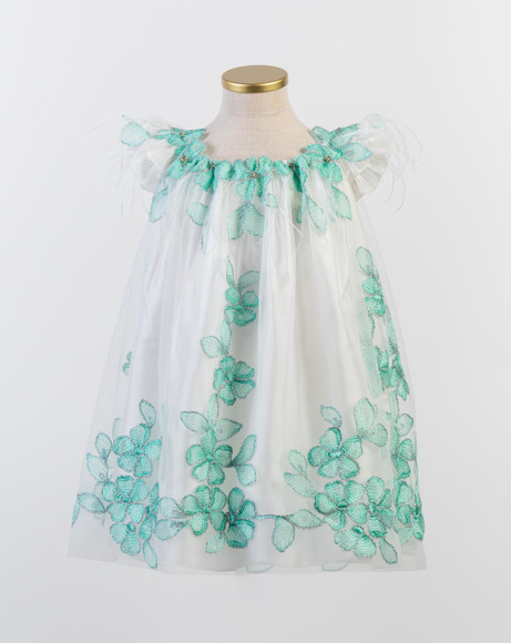 Picture of WHITE AND GREEN TULLE