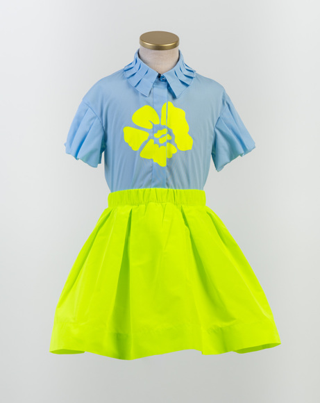 Picture of PLEATED COLLAR FLOWER PRINT SHIRT