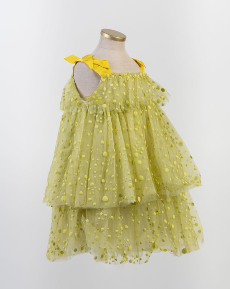 Picture of 3D POLKA-DOT TULLE DRESS