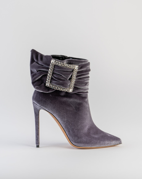 Picture of YASMIN BUCKLE BOOTS IN GREY