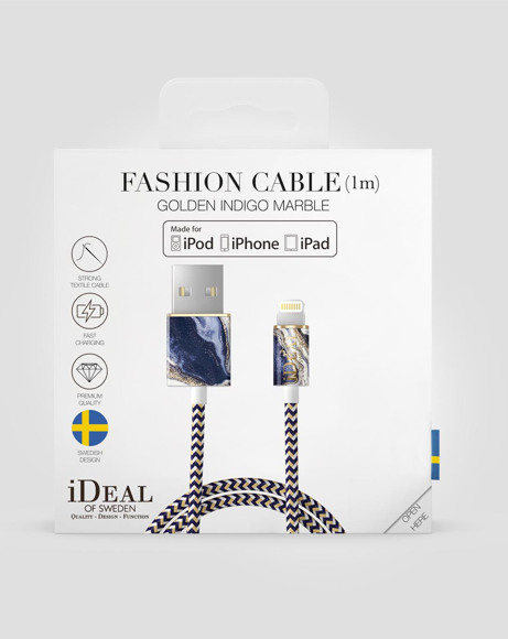 Picture of GOLDEN INDIGO MARBLE iPHONE CABLE
