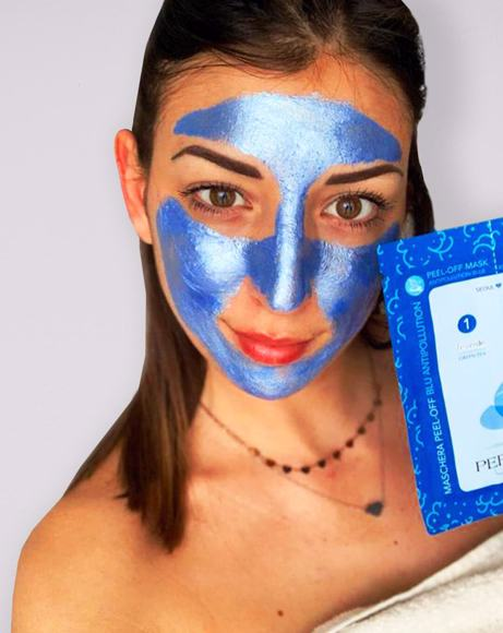 Picture of FACE MASK COMBO: ANTIPOLLUTION BLUE PEEL OFF + NUTRITIVE CREAM