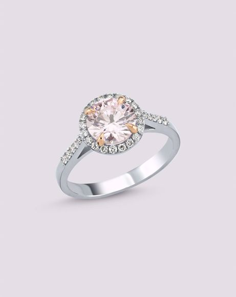 Picture of PINK TOPAZ RING