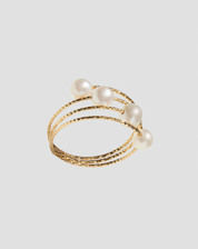 Picture of RING 4 TURNS GOLD 4 NATURAL PEARLS