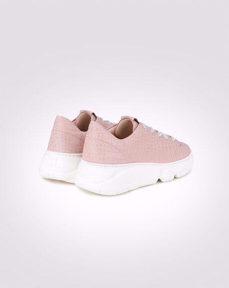 Picture of LEATHER CHUNKY SNEAKER IN PINK