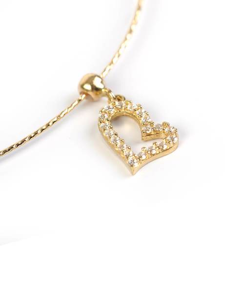 Picture of SAPPHIRES HEART CHARM PENDANT