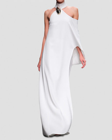 Picture of ANTRONA MODEL DRESS IN WHITE