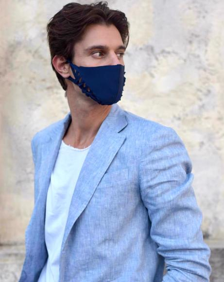 Picture of MANIPULATION FASHION MASK ABSTRACT ACACIA DARK BLUE