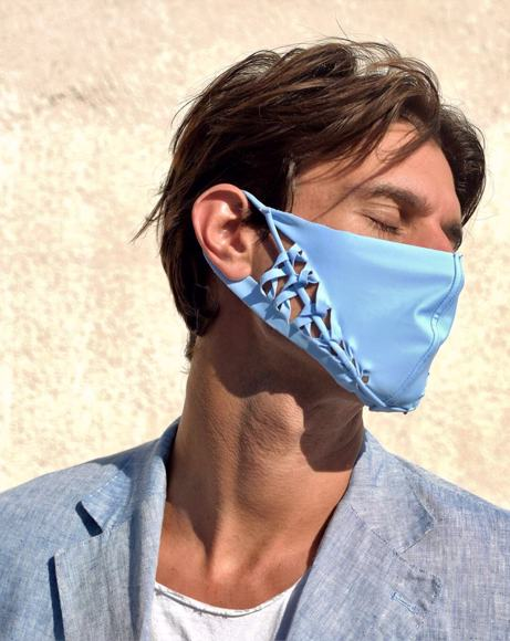 Picture of MANIPULATION FASHION MASK ABSTRACT ACACIA SKY BLUE