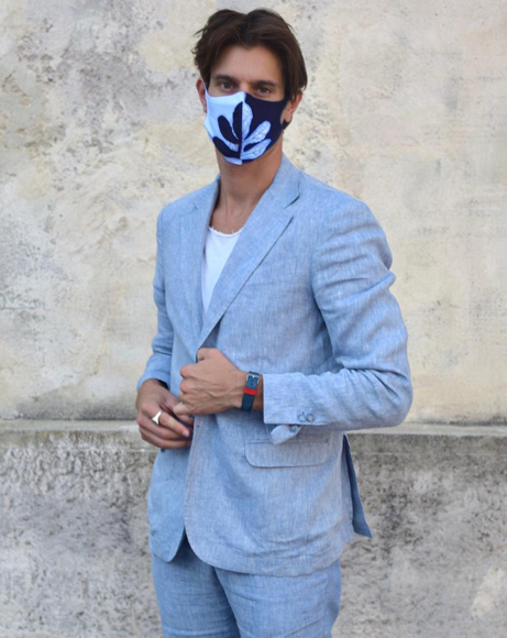 Picture of FASHION MASK SKY BLUE AND DARK BLUE
