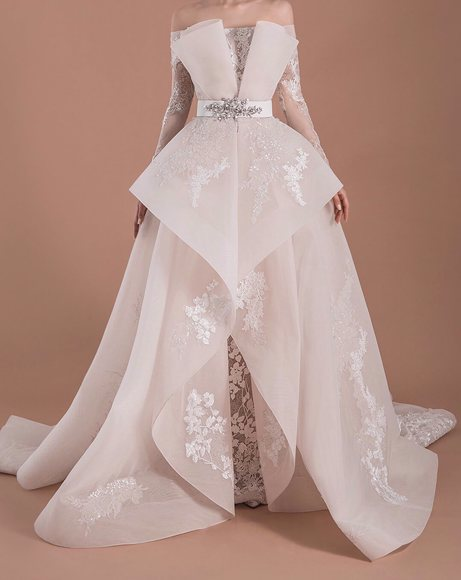 Picture of OFF-WHITE TUBE WEDDING DRESS
