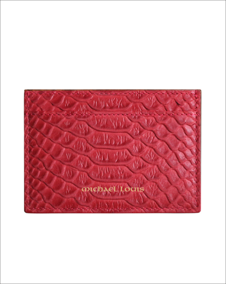Picture of RED PYTHON CLASSIC CARD HOLDER
