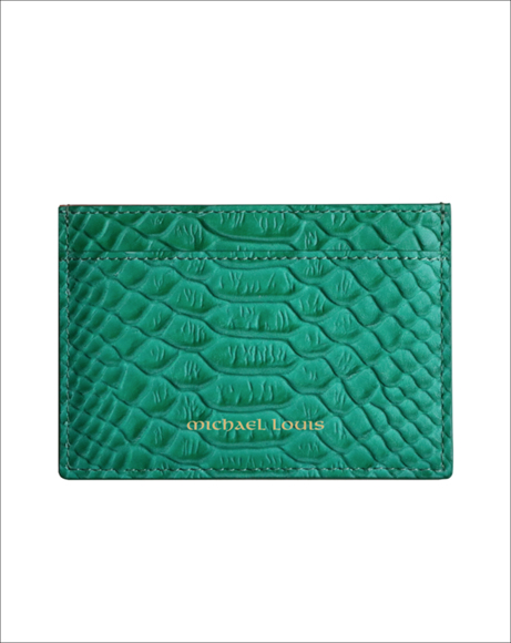Picture of GREEN PYTHON CLASSIC CARD HOLDER