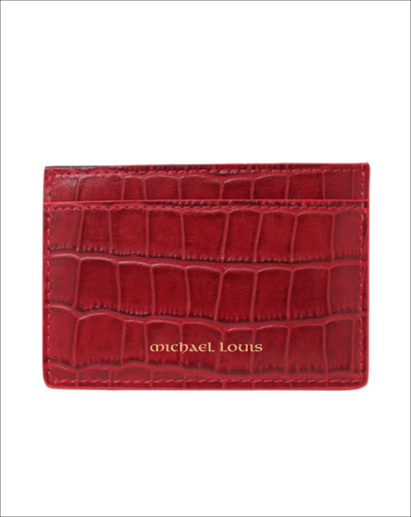 Picture of RED CROC CLASSIC CARD HOLDER