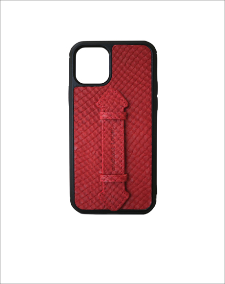 Picture of RED SNAKE IPHONE 11 STRAP CASE