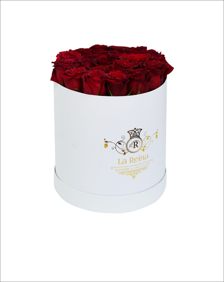 Picture of RED ROSES WITH WHITE BOX