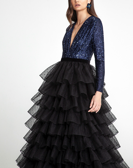 Picture of PIXIE NAVY GOWN