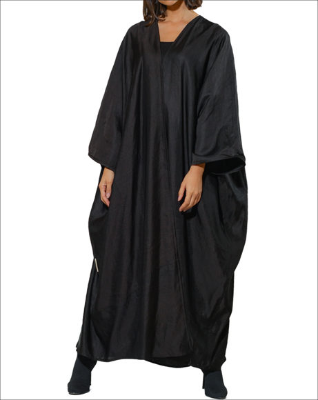 Picture of BLACK  SATIN ABAYA
