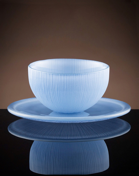 Picture of FIREFLY TEA BOWL & SAUCER IN SKY BLUE