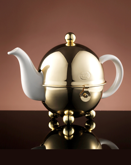Picture of JAZZ GOLD DESIGN TEAPOT IN WHITE 500 ML