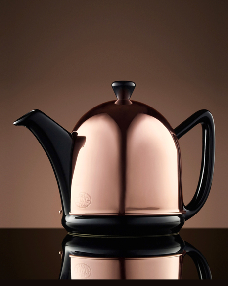 Picture of ROSE DOME TEAPOT IN BLACK