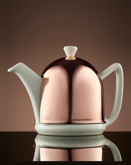 Picture of ROSE DOME TEAPOT IN WHITE